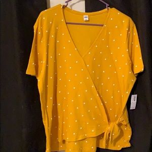 Yellow Polkadot shirt